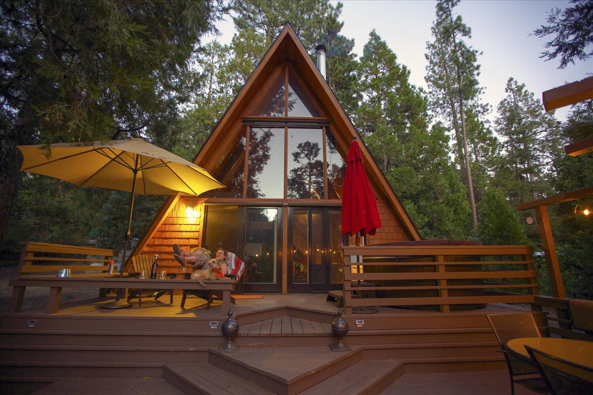 Idyllcove A Frame Cabin Vacation Rental Cabins In